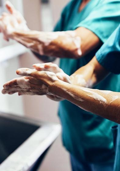 nettoyage mains
